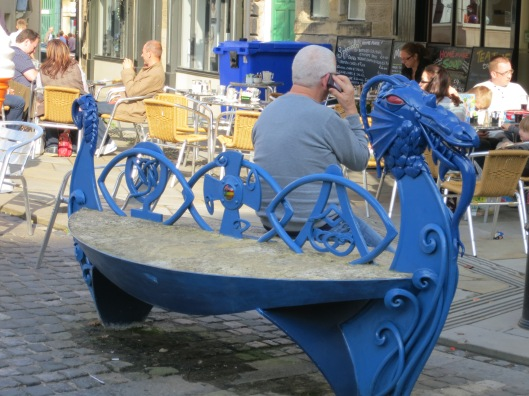 Awesome Dragon Viking Boat Bench in Alnwick